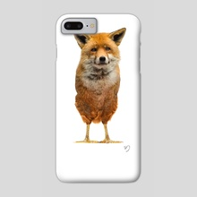 Fox/Chicken -  You Are What You Eat - Phone Case by Sarah DeRemer