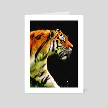 EDDIE'S TIGER - Art Card by Eddie J. L. Christian