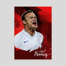 Wayne Rooney - Canvas by Dmitry Belov