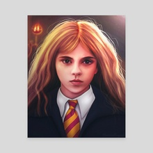 Hermione Granger young - Canvas by Alex Walker