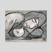 Grey Nude - Canvas by Kezia Cole