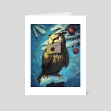 Owl postal service - Art Card by Darko Stojanovic