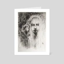 Eerie white - Art Card by Tatiana Kotelnikova