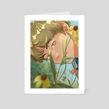 flower tae - Art Card by Hanabi Bloom