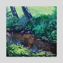 Forest Creek - Canvas by Brendalee