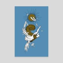 Icarus - Color  - Canvas by Jes Bailey