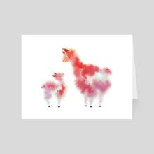 Alpacas III - Art Card by Faryn Hughes