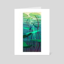 Little frogs diving - Art Card by Cécile Carre