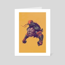 TMNT - MICHELANGELO - Art Card by Tonton Revolver