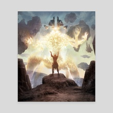 Immolating Glare - Canvas by Ryan Lee