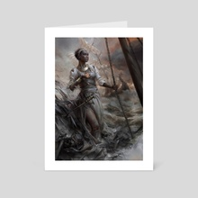 The Drowning Eyes - Art Card by Cynthia Sheppard