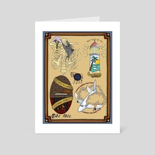 SISTER CITIES - Art Card by Phil Backus