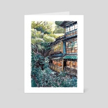 100 years old Inn in Minoh - Art Card by Mouseich