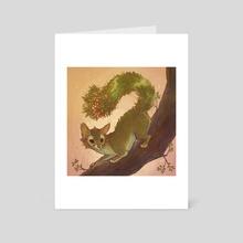 Botanimals - Coffeeberry Ringtail - Art Card by KM Steere