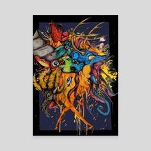 Knightmare - Canvas by Clayton Tatom