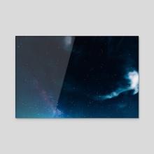 Cloudy Night - Acrylic by Matthew Tsai