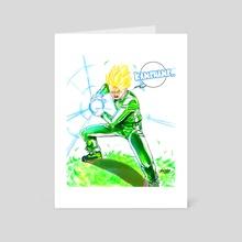 Going SSJ- Tracksuit Gohan - Art Card by MARK CLARK II