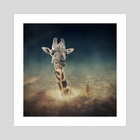 sky giraffe - Art Print by Even Liu