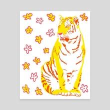tiger flower no. 1 - Canvas by morgan schofield