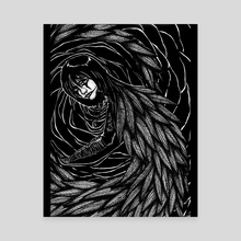 Crow - Canvas by Lovely Solitude