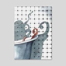 octopus - Acrylic by Rowan Fridley