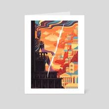 Zeus - Art Card by Jim Tierney