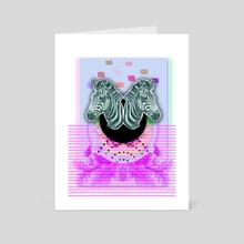 ZEBRA STYLE - Art Card by Gloria Sánchez