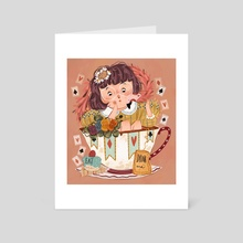 Alice in Wonderland  - Art Card by Laura Proietti