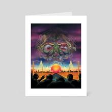 Zombie Wars - Art Card by Matthew Panuska