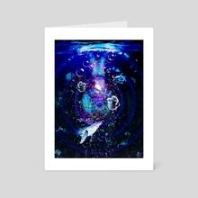 Deep Blue Sea - Art Card by Valentina Ioannou