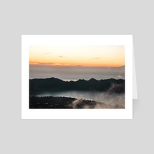 Mount Batur // First Light (ii) - Art Card by Helena Homsi