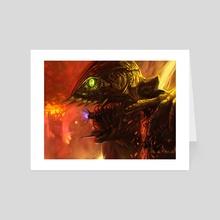 God Warrior - Art Card by Santiago Rosas