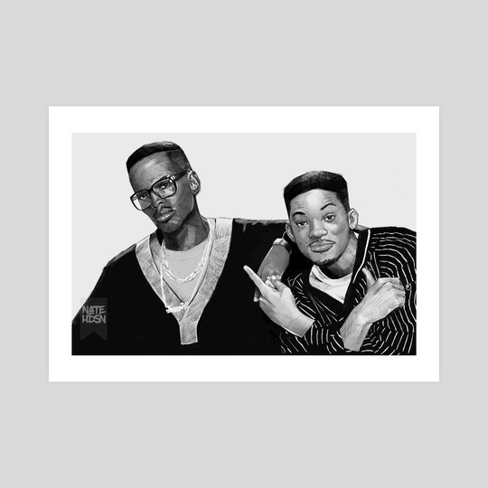 Fresh Prince and Jazzy Jeff by Nate Hudson