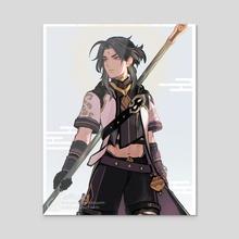 Genshin Impact: Xiao in Albedo's Style - Acrylic by Nikkipet