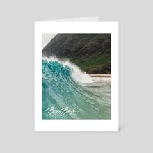 Makua Beach.  - Art Card by Bryce Bowlin