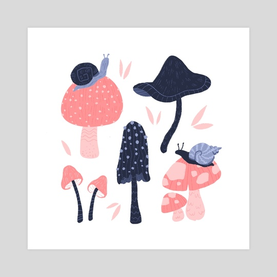 Shrooms and Snails by Bee