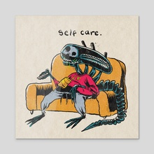 self care - Acrylic by Brandon Lepine