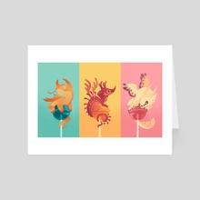 Dragonpops - Art Card by Mariana Guati