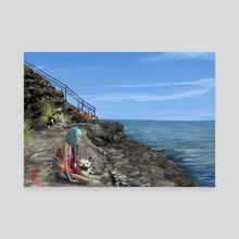 Ocean View - Canvas by Ruu Allain