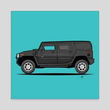 Hummer H2 - Canvas by Animesh Tewari