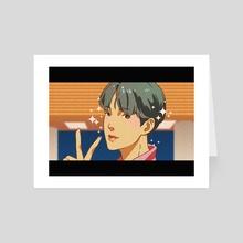 BTS Kim Seokjin- Boy With Luv Theme - Art Card by Samadrita Ghosh