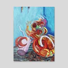 Seafood Spaghetti Sunday - Acrylic by Eric Wayne