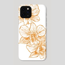 Gold Orchid II - Phone Case by Paulina Navarro