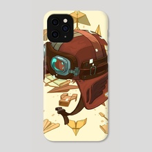 Exploding Aviator - Phone Case by Miguel Co