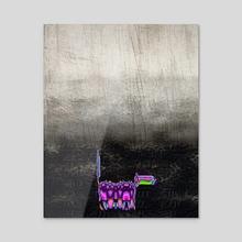 Imaginary Dog - Abstract Art - Acrylic by Vidka Art