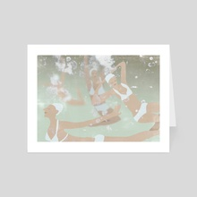 Swimming team - Art Card by Agnes Loonstra