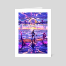 Purple Skies - Art Card by Luis Sierra