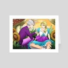 It's Time, Alice - Art Card by Mel McKenzie