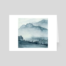 Blue mist - Art Card by Ellen Wilberg