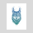 Deer wolf - Art Print by Balazs Solti